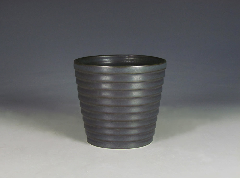 Cup (Black)  |  6 x 4 x 4 inches  |  Porcelain, Glaze  |  2016