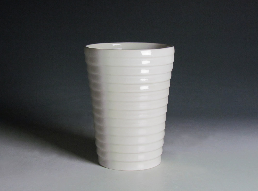 Tumbler (White)  |  7 x 3 x 3 inches  |  Porcelain, Glaze  |  2016