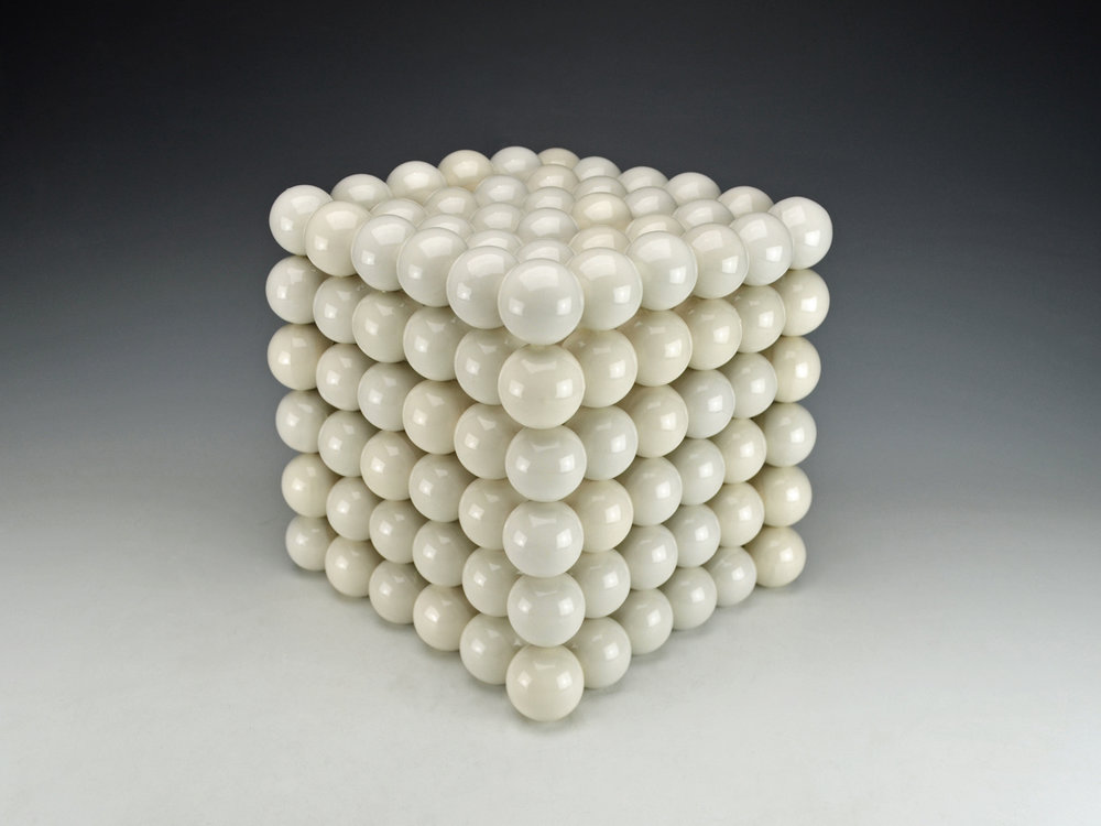 Ionic Series: Cubic Construction  |  13 x 13 x 13 inches  |  Porcelain, Glaze  |  2017