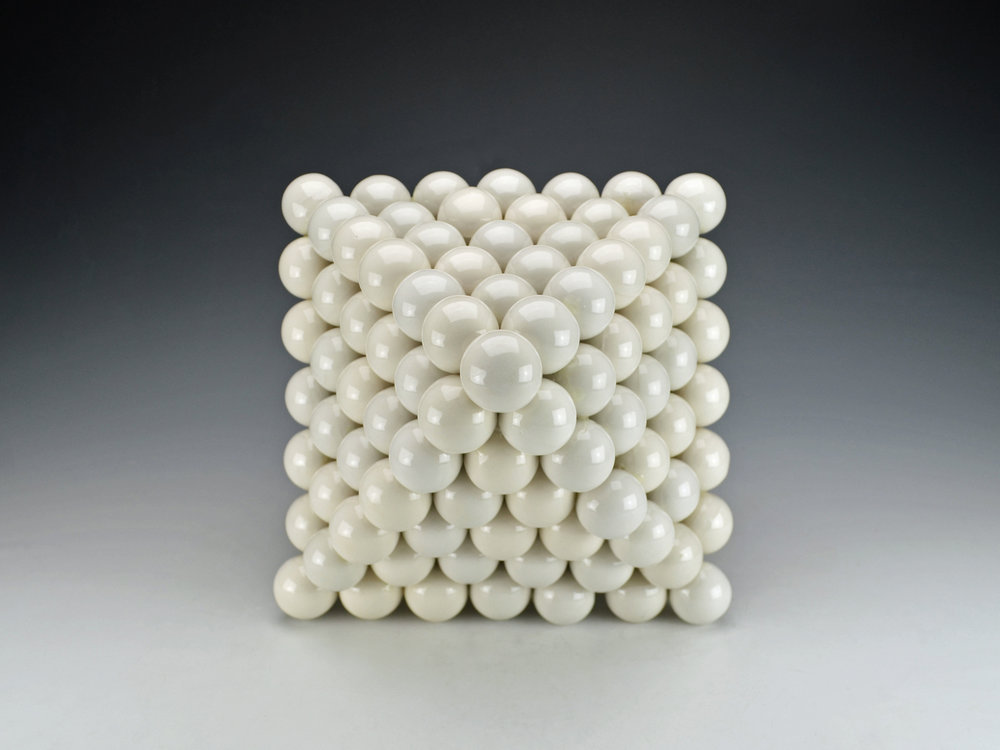 Ionic Series: Octahedron  |  13 x 13 x 16 inches  |  Porcelain, Glaze  |  2017