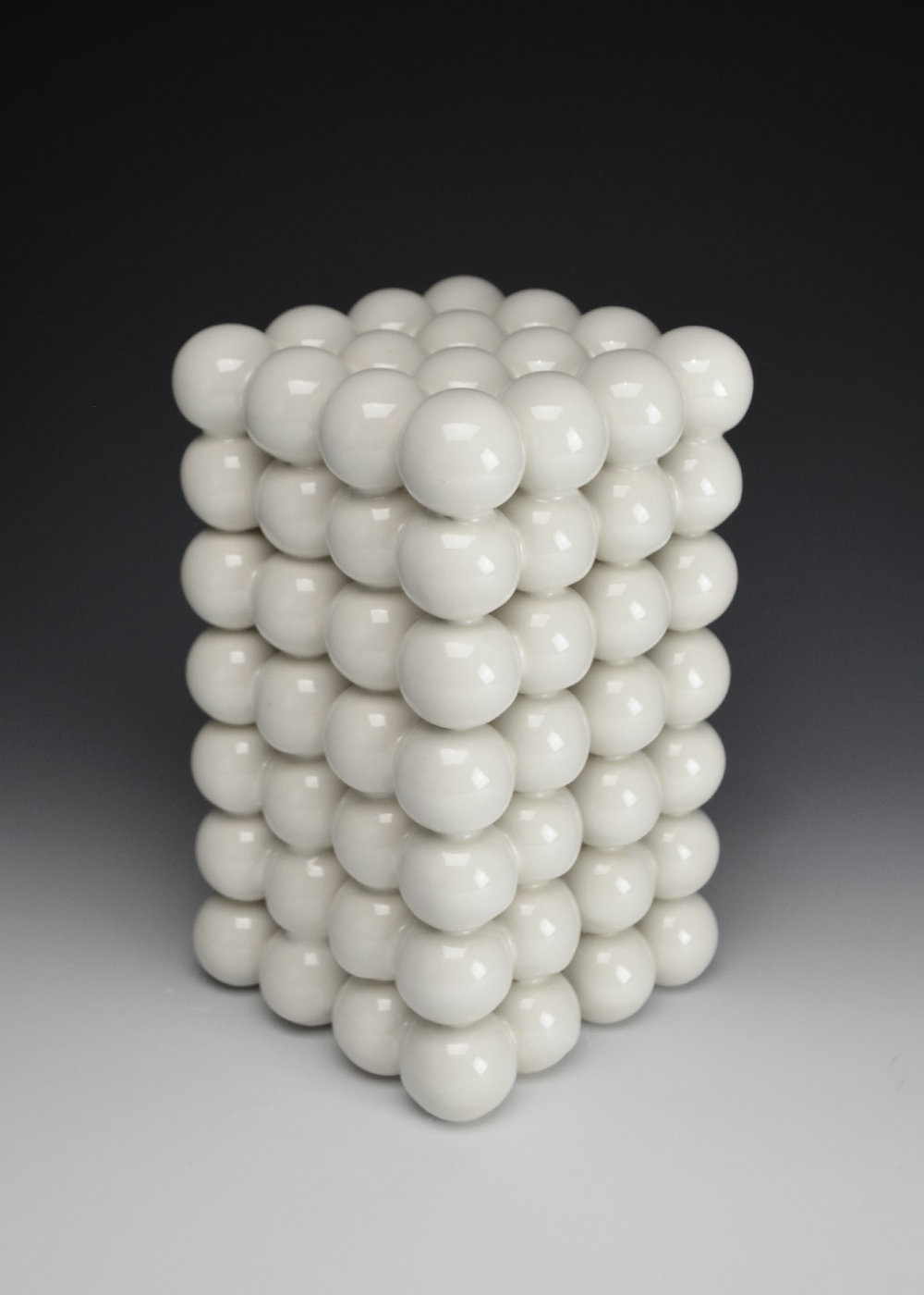 Ionic Series: Construction VII  |  9.5 x 5.5 x 5.5 inches  |  Porcelain, Glaze  |  2017