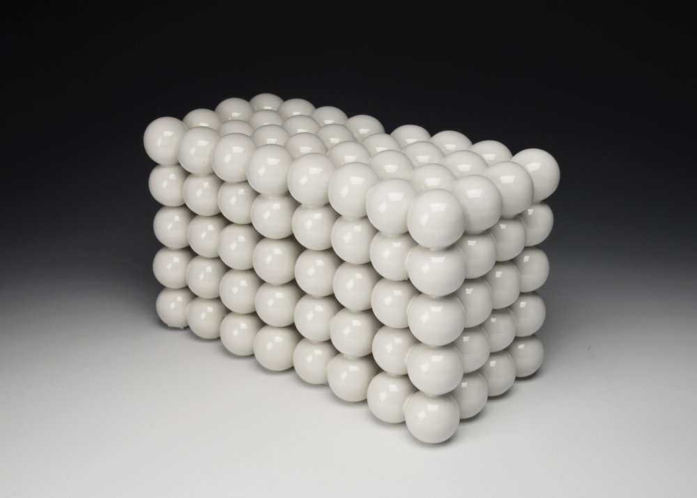 Ionic Series: Construction X  |  7 x 11 x 5.5 inches  |  Porcelain, Glaze  |  2017