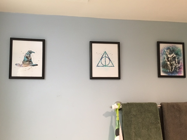 The  sorting hat , the deathly hallows, and Snape's patronus.