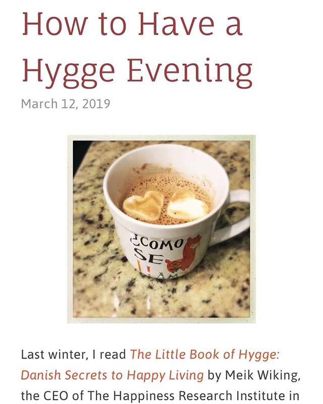 Last winter, I read The Little Book of Hygge: Danish Secrets to Happy Living by Meik Wiking, the CEO of The Happiness Research Institute in Copenhagen, and immediately became obsessed with hygge. Hygge (pronounced hoo-ga) is hard to translate. I think of it as a combination of coziness and self-care. . Those of us with chronic illnesses spend a lot of time at home, and although we may be too sick or in too much pain sometimes to enjoy hygge, I think it's important to try to have some time where we take care of ourselves. Hygge is a great concept for putting together a relaxing evening. Check out my latest Hope Inflamed post for some of my favorite things for a hyggelig evening at home. Link in bio. . #chronicillness #ibd #ulcerativecolitis #selfcare #hygge