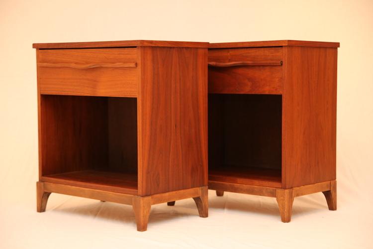 mid century modern walnut furniture side tables - Mid Century Modern Furniture Toronto