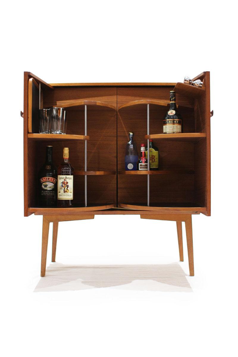 Beau Danish Teak Liquor Cabinet (finished On All Sides)