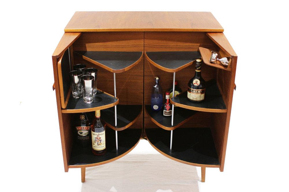 Superbe Danish Teak Liquor Cabinet (finished On All Sides)