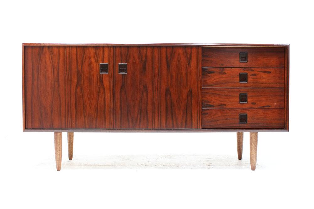 sold mid century rosewood sideboard furniture 1950 teak mid