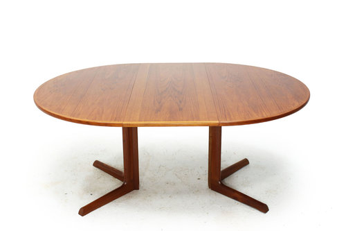 SOLD Teak Expanding Dining Table By Gudme Mobelfabrik Item - Expanding conference table