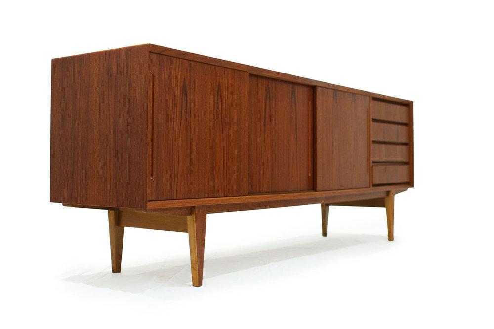 Mid Century Danish Credenza : Sold teak danish credenza item# 0329 u2014 furniture 1950 mid