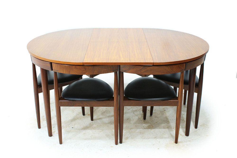 Hans Olsen Teak Dining Set With 6 Chairs Item# 0343