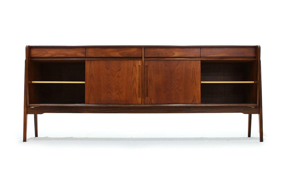 Scandinavian Expo 67 Teak wood 4 Door 4 Drawer Mid-century Modern Credenza/Sideboard