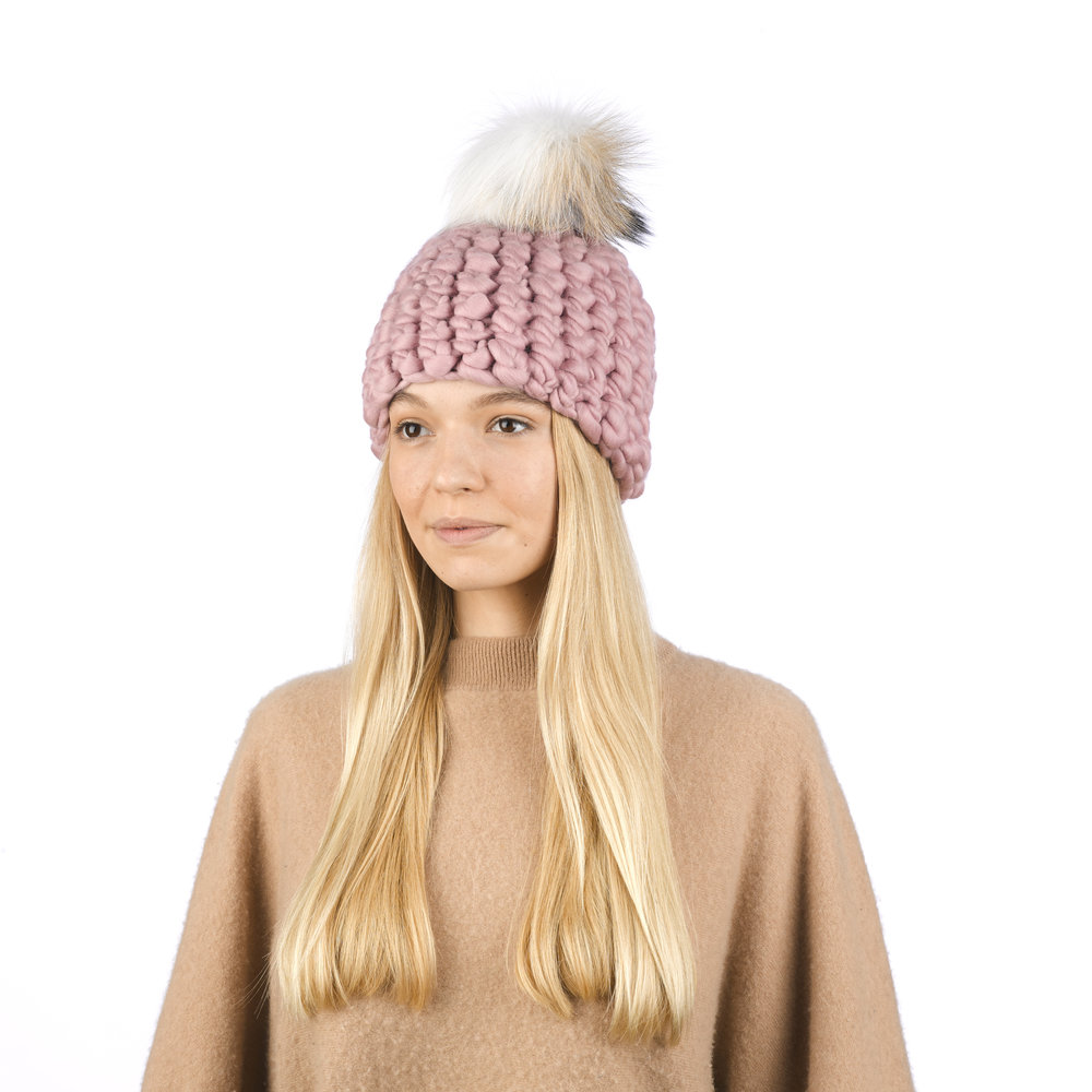 dusty rose • arctic tan xl pom