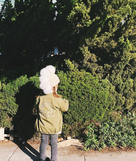 toddler white pohawk • white xl poms