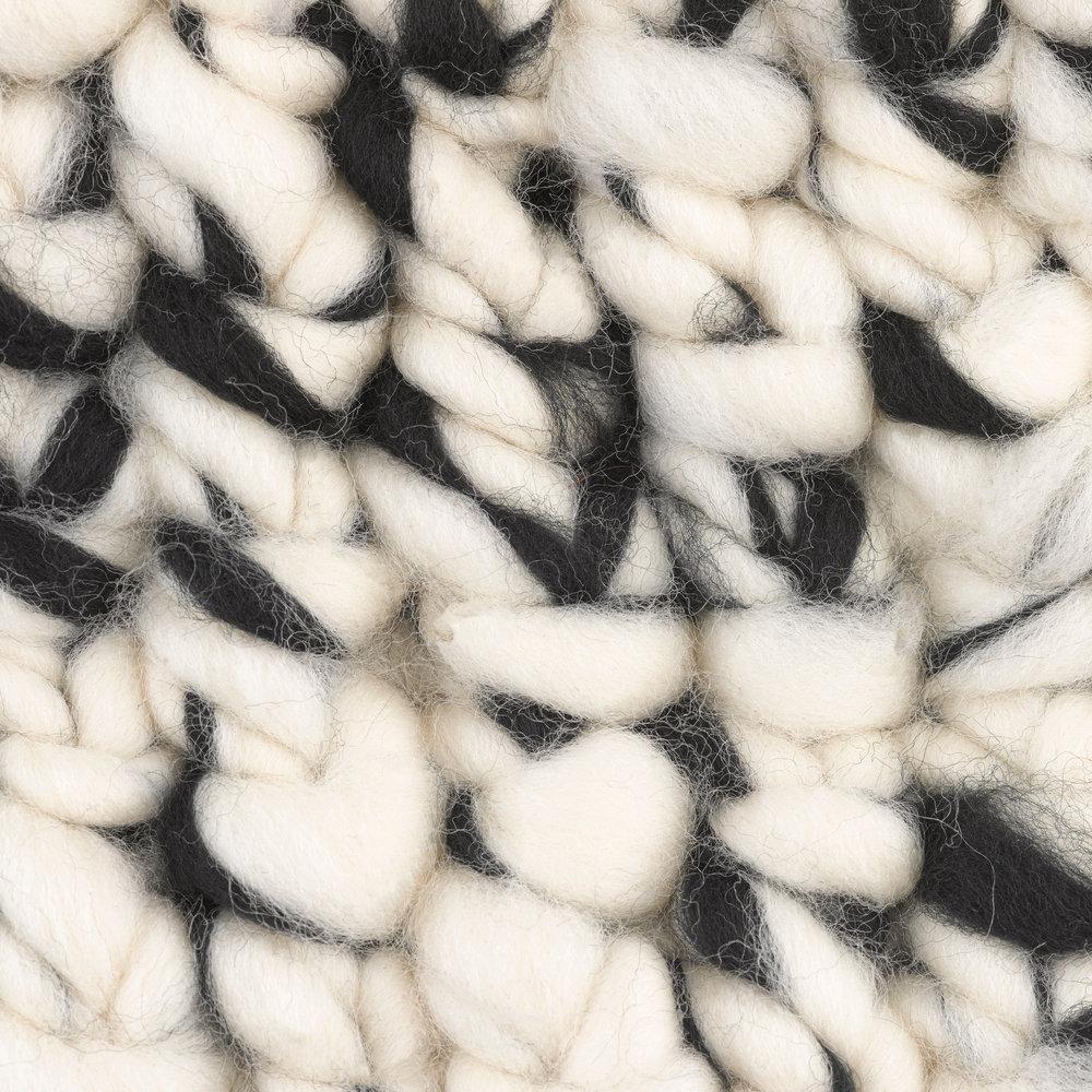 white | black blend