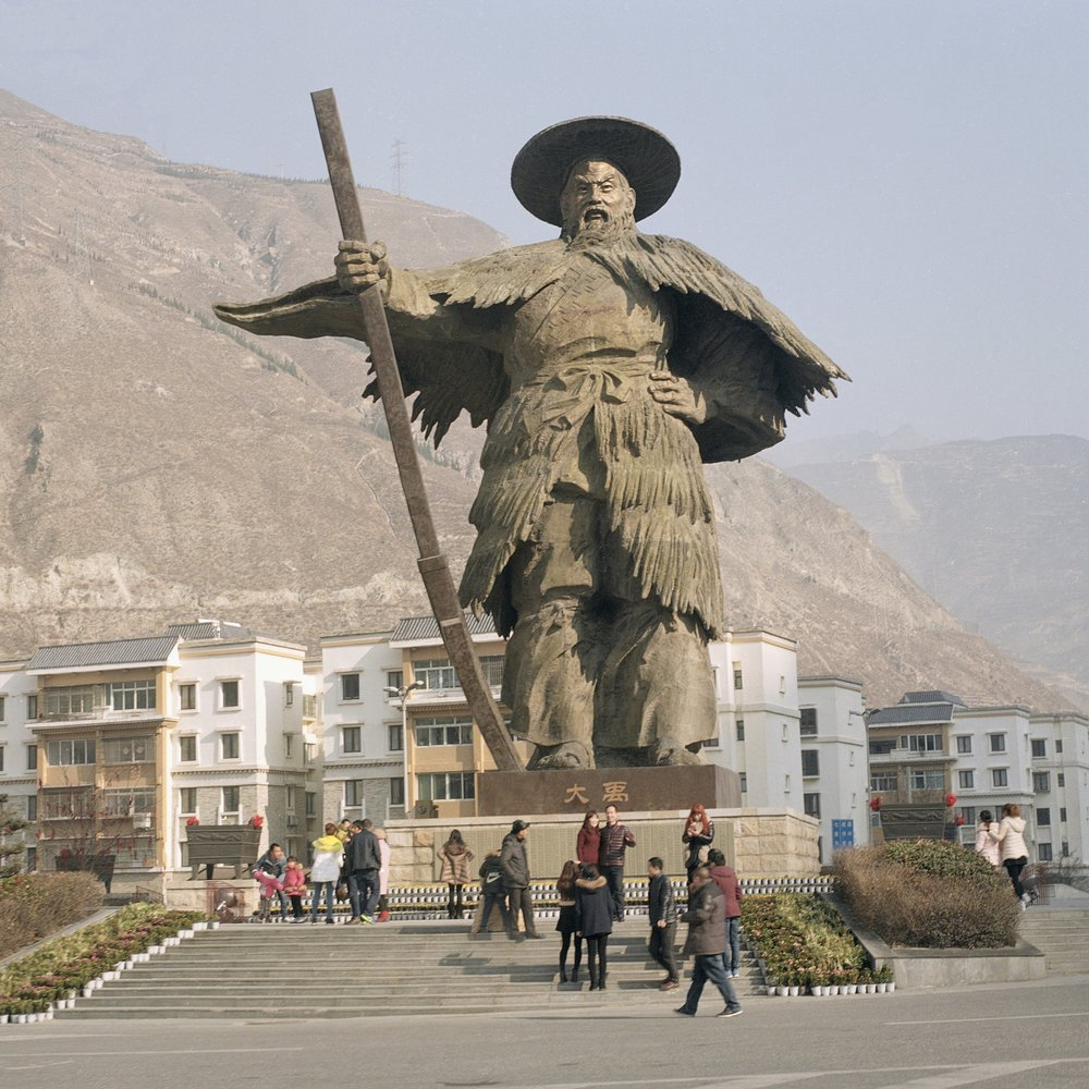 "The Newly Constructed ""Big Yu"" Statue, Wenchuan, Sichuan, China, February 2016"
