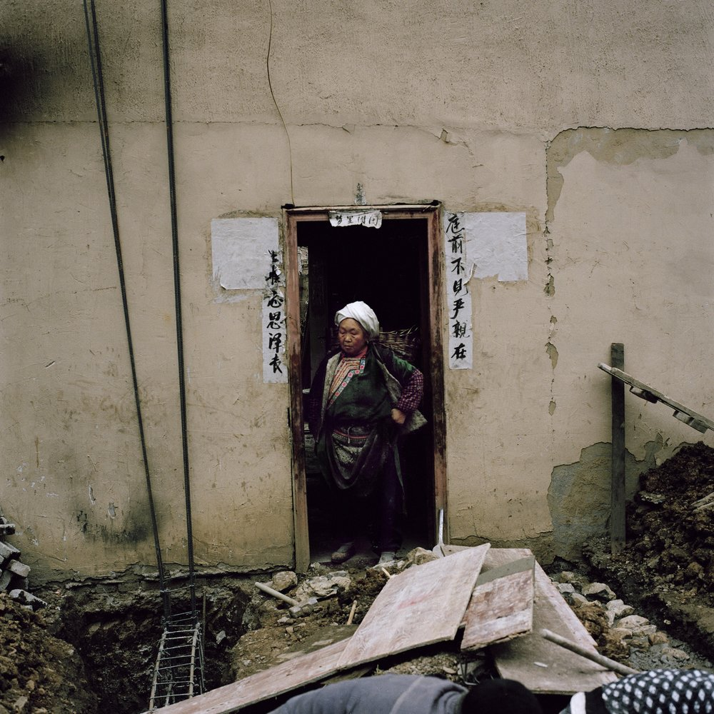 A Widow Expanding her House, Radish Village, Sichuan, China, March 2016