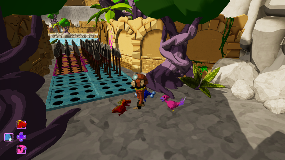 Figure 1: The introduction to the ice dino, freeze the traps and you're free to go!