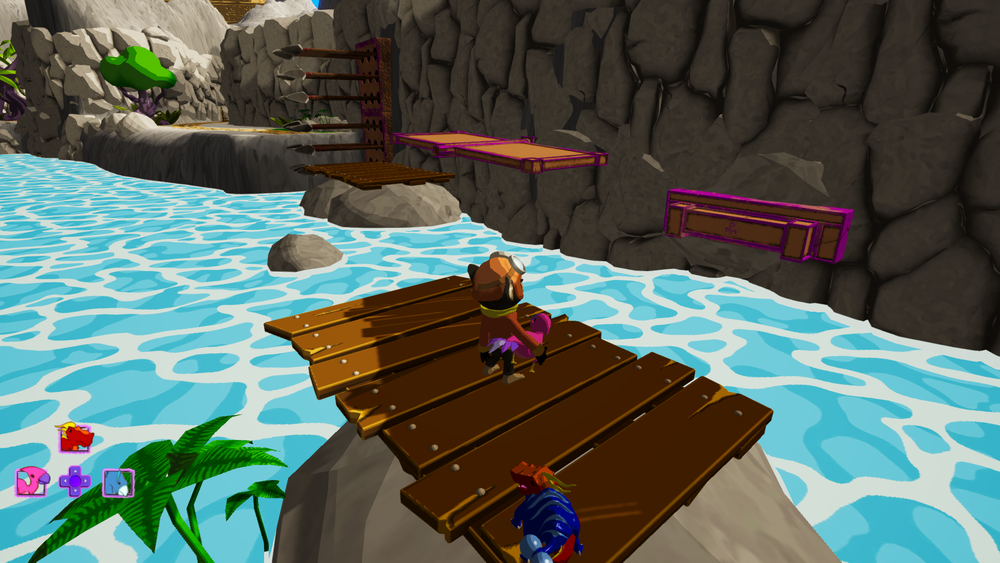 Figure 12: More risky platforming and dino switching
