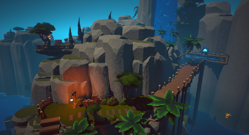 Figure 3: A short breather before a tricky platforming section to let the player collect themselves