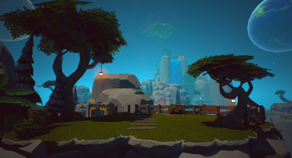 Figure 2: A rare moment of peace on the hard path, showing the player that they're already gaining some ground on the path to the Great Tree