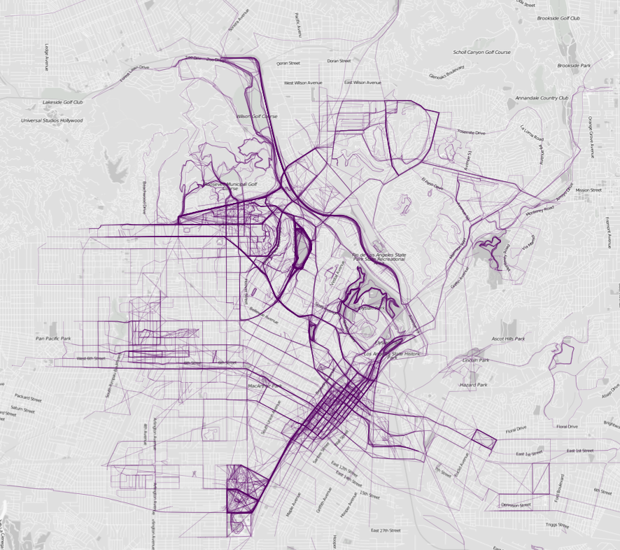 Maps of Jogging Routes in a City's Rich and Poor Neighborhoods