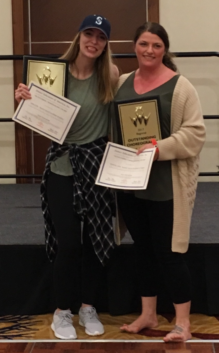 "Sami Leyde & Jenn Johnson won ""Outstanding Choreography"" at Seattle's DEA Convention!"