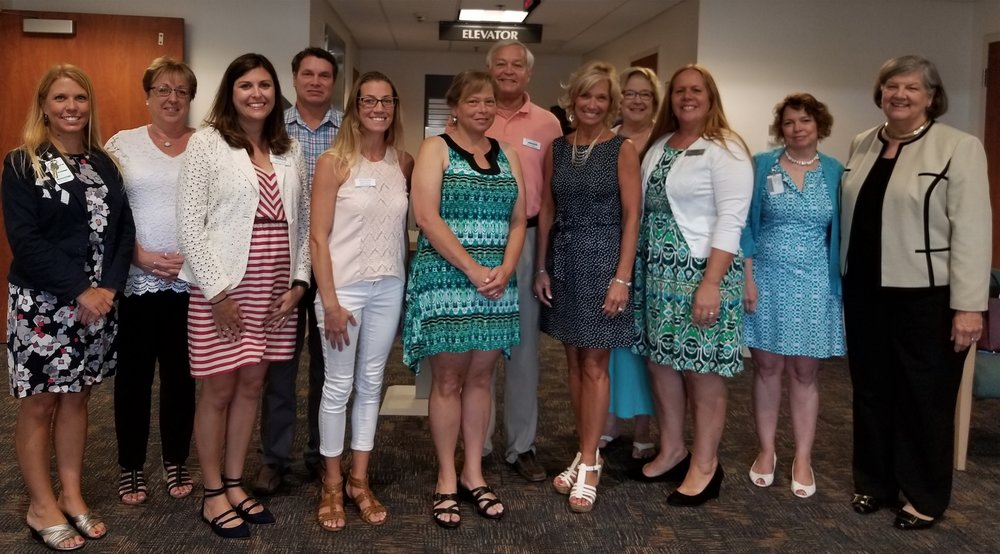 Pictured Above (L-R):  Jennifer Schwartzenberg, Director of Community Outreach & Development, The Outer Banks Hospital; Karen Brown, Chair, Community Benefit Grants Committee; Kristin Young, NC MedAssist; Don Cabana, Dare County Transportation; Wendi Munden, Hatteras Island Cancer Foundation; Beverly Paul, Hyde County Non-Profit Private Transportation Corporation; Rick Gray, Community Care Clinic of Dare; Debbie Dutton, Dare County Health Department; Jean Freeman, Interfaith Community Outreach; Jenniffer Albanese, Interfaith Community Outreach; Kahla Hall, Vidant Health Foundation ;  Tess Judge, Outer Banks Hospital Board Member and Chair, The Outer Banks Hospital Development Council.
