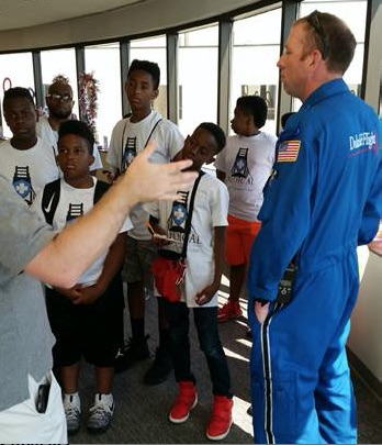 Stem students from alamance community college get an overview of duke Life flight operations