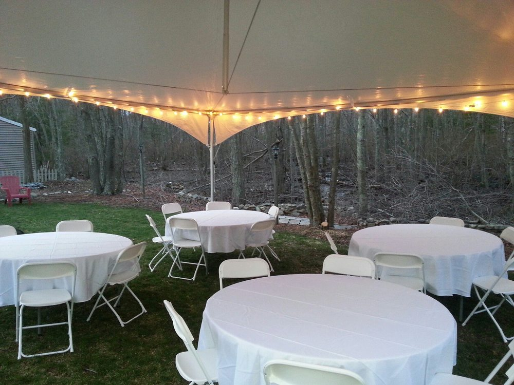 20x20 FRAME tent - free-standing, no pole in center of tent