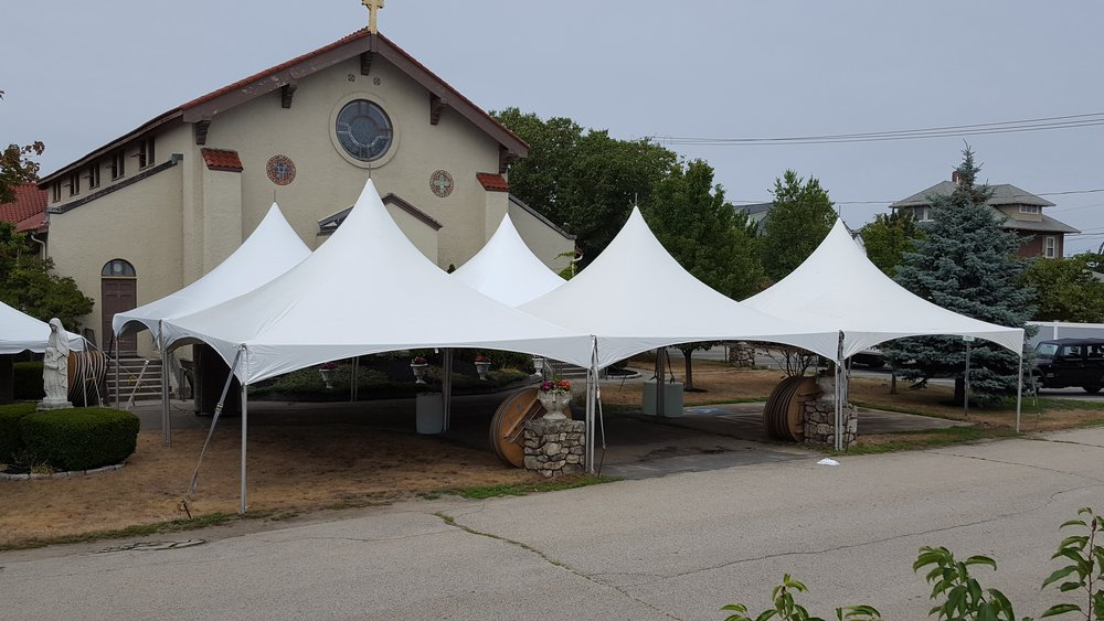 tent for church event in Hull MA