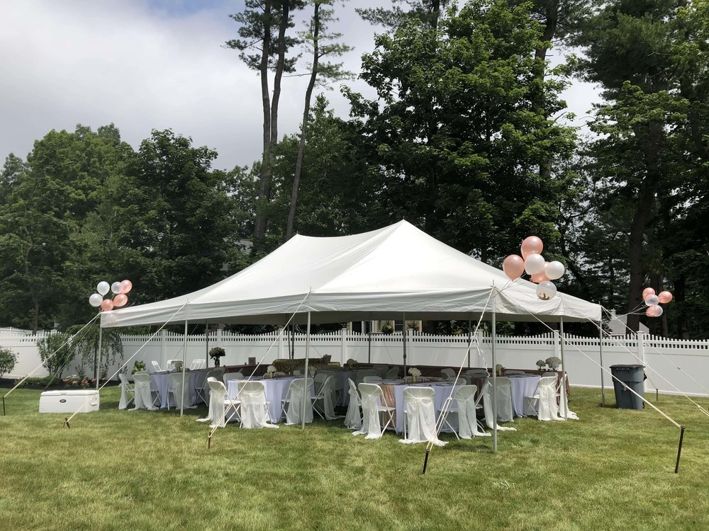 baby shower tent rental