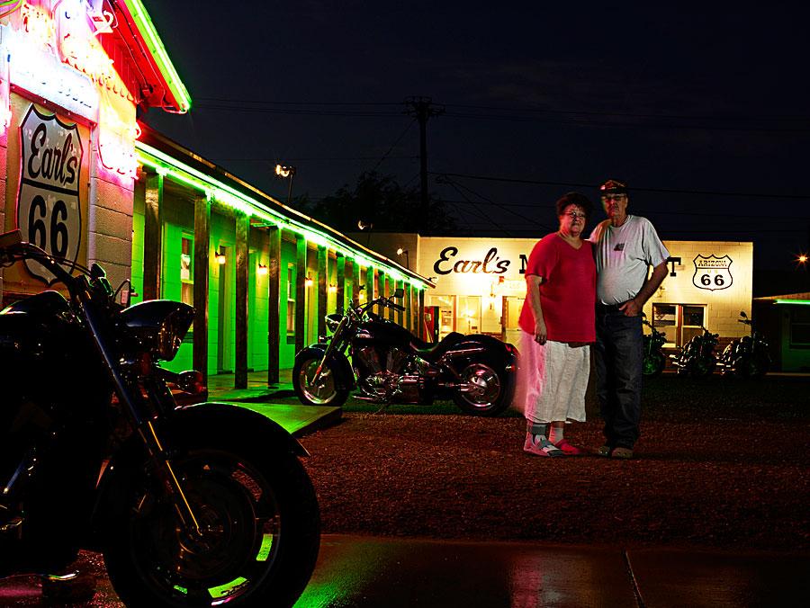 Late night Honda cruiser bike shoot