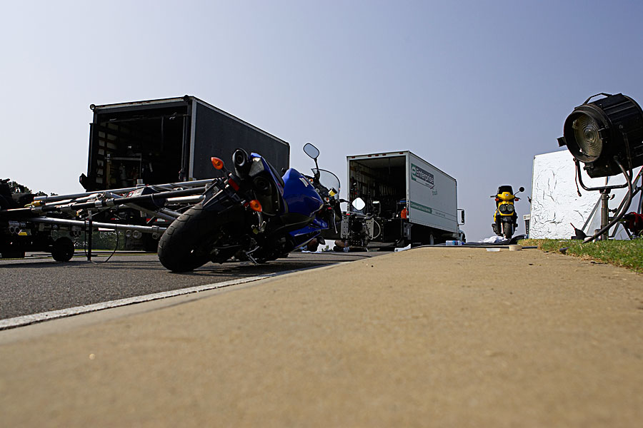 Yamaha motion rig shoot on the track