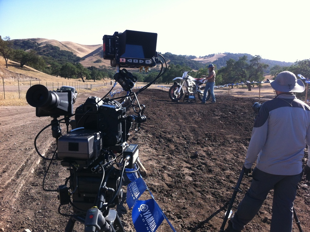 Production from an off road Yamaha TV ad