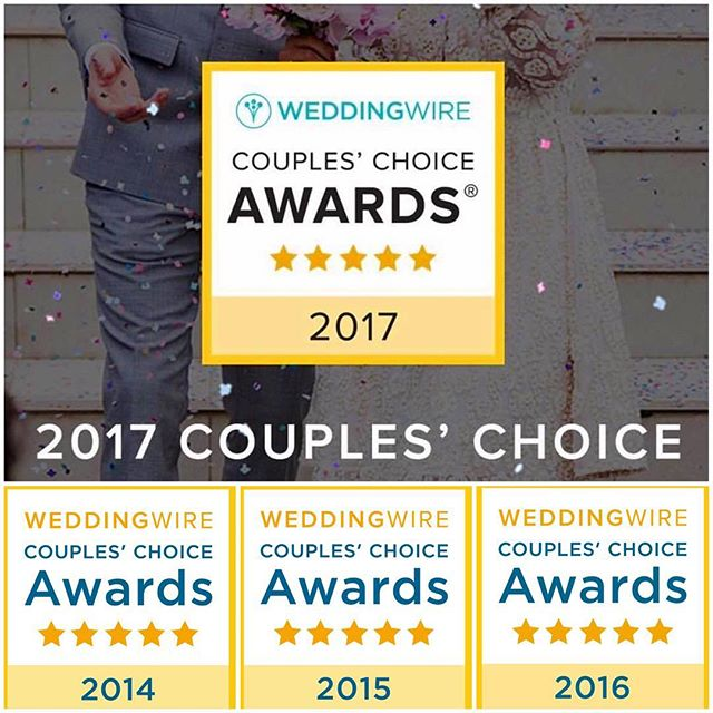 Starting the new year with one of our favorite traditions! Honored to be a @weddingwire Couple's Choice recipient for 2017! Thank you to all of our wonderful couples who graciously took the time to write reviews. You're the the reason we love what we do! 💛#fourpeat #consistencyiskey #weddingwirecoupleschoice #petalproductions