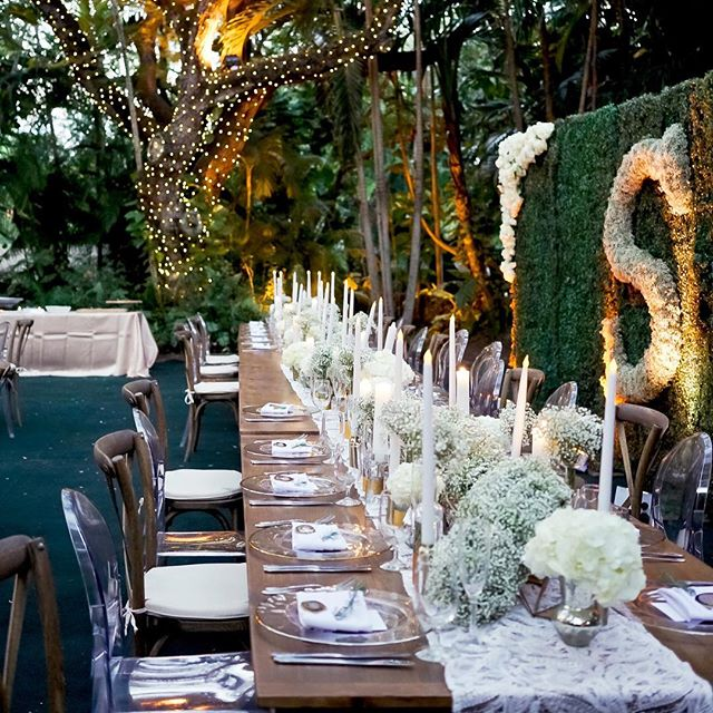 Just received a notice from @borrowednblue that this lovely @villa_woodbine wedding with @jessicasevents was featured on their blog! Can't get enough of the beautiful detail shots from @simplycaptivating photography! Love the way this head table turned out, as well as the custom floral monogram backdrop. #luxurywedding #miamiwedding #tablescape #centerpiece #floraldesign #eventdesign #modern #geometric #babysbreath #flowers  #petalproductions #siemprescruggs