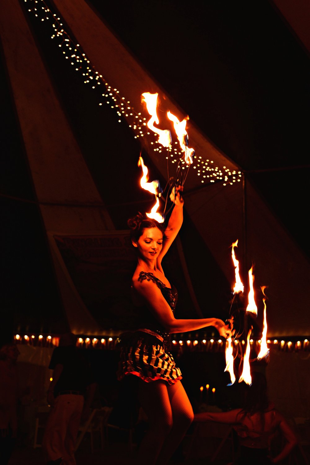 Destin Aerial Events Fire Fan Entertainment