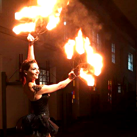 Destin Aerial Events Fire Fan Dance Entertainment