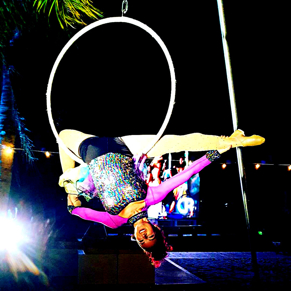 Solo Aerial Act Dance Lyra Hoop Entertainment Destin Carnival Fantasy Fest Theme