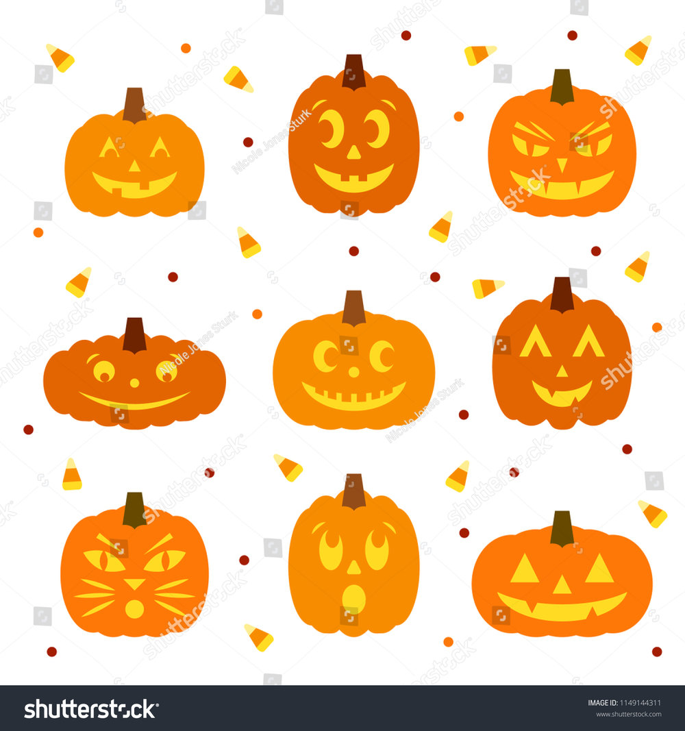 stock-vector-set-of-nine-cute-cartoon-jack-o-lanterns-with-scattered-candy-corn-and-polka-dots-1149144311.jpg
