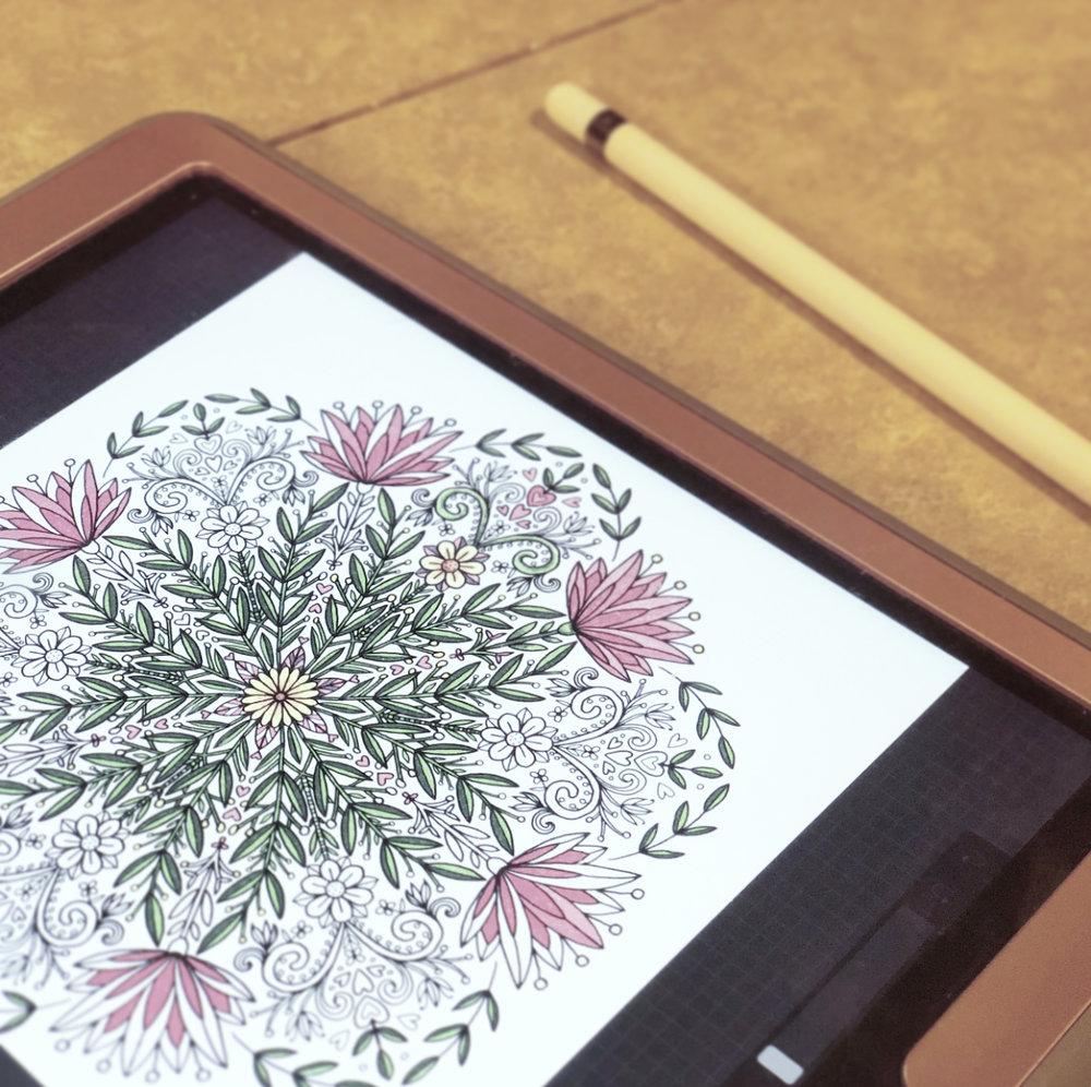 Digital coloring on my iPad.