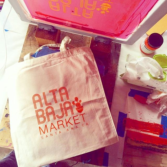 A sneak peak at the bags for our #kickstarter backers of $25 and up- you'll love the other side of them...to be continued 💗😎👍🍻 big thank you to @dearhandmadelife  for making them! 😘#altabajamarket #almostthere #michelada #SantaAna #dtsa