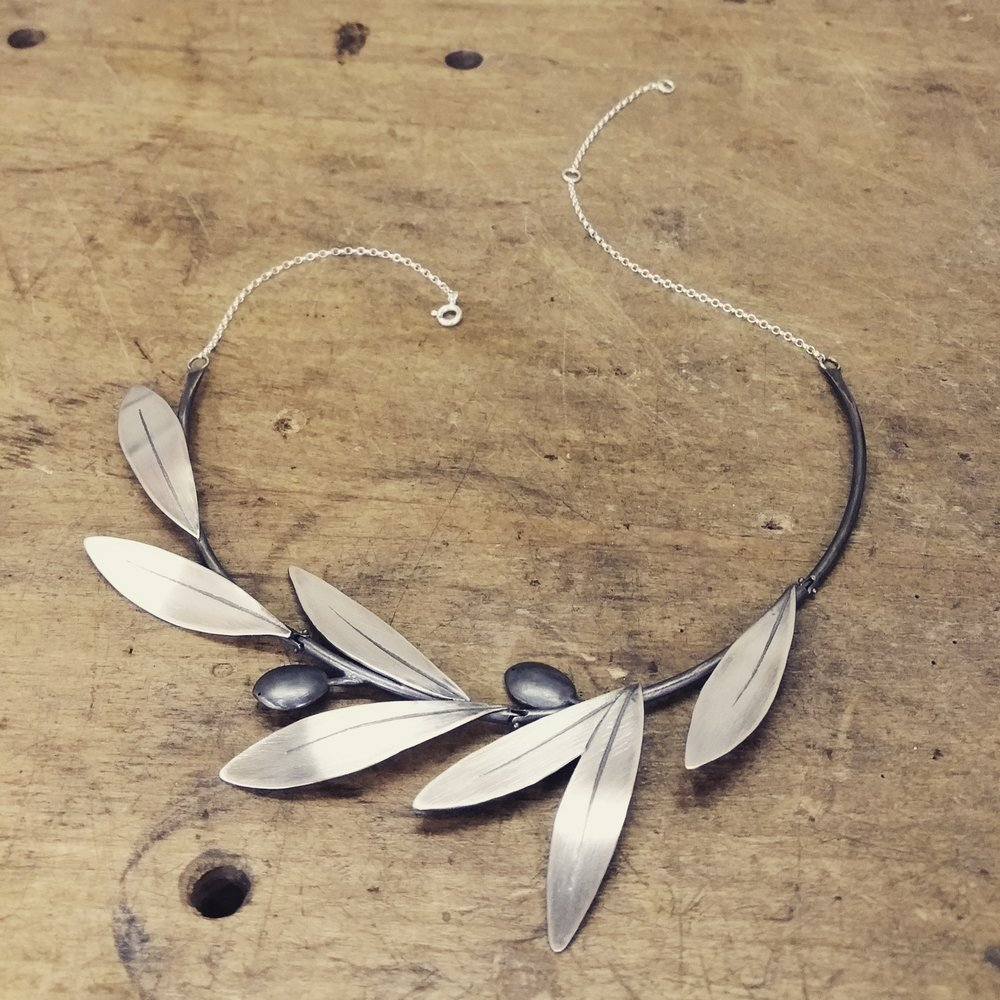 blue gallery collection necklace olive branch jewellery wing by botanic