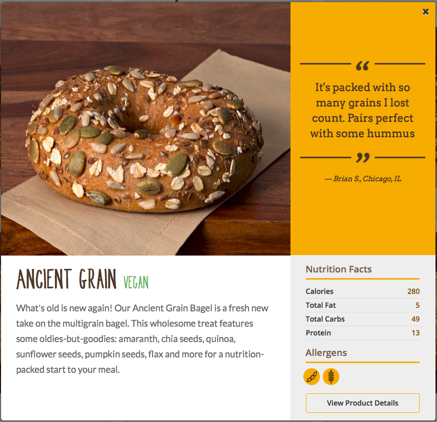 Einstein Bros. Ancient Grain Bagel