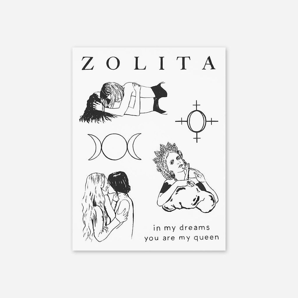 ZOLITA STICKER SHEET     8.00