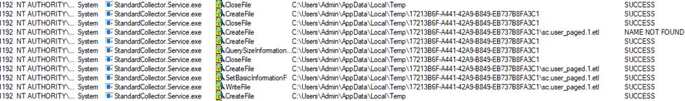 StandardCollector.Service.exe writing to user Temp folder