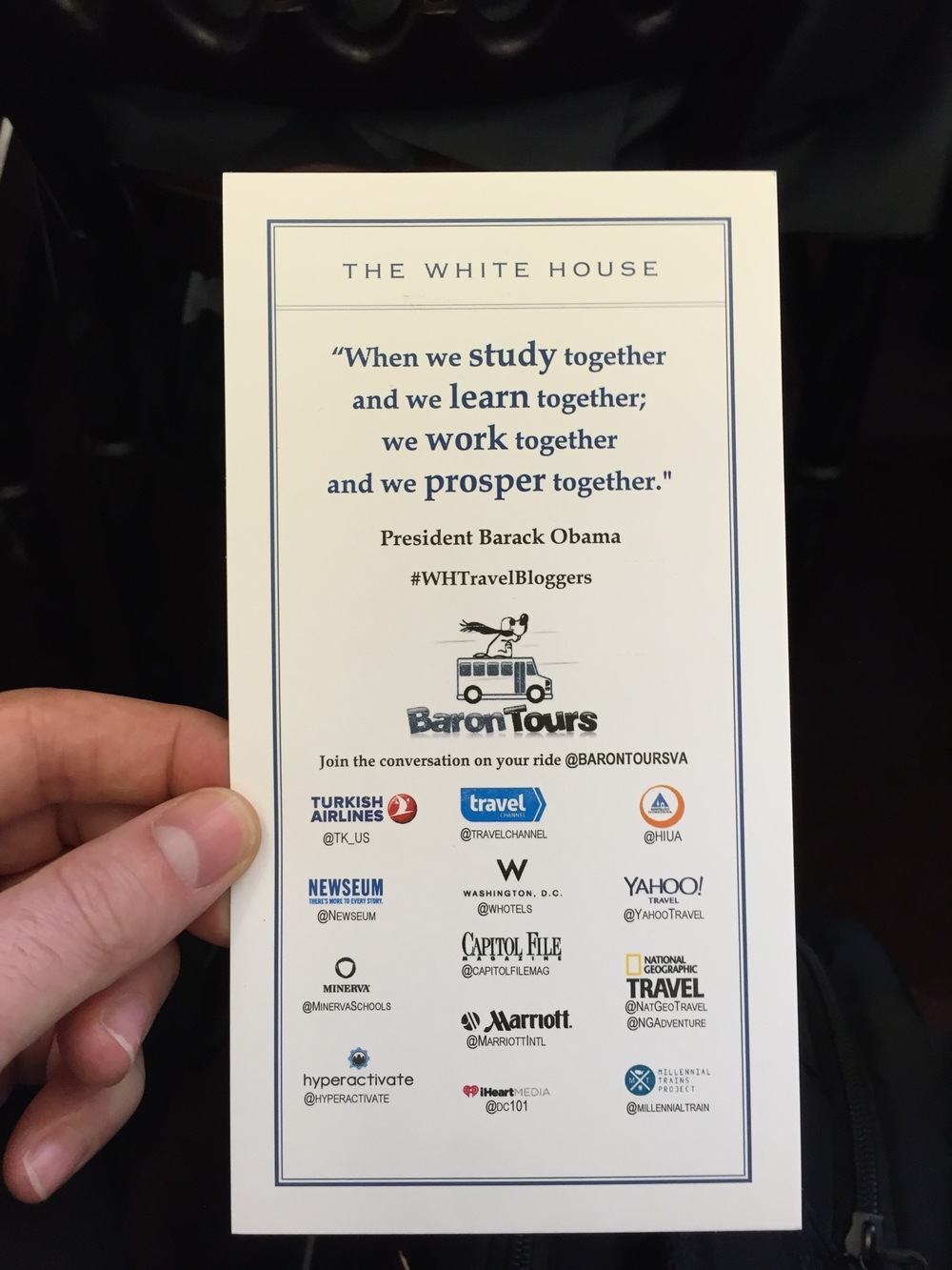 Hyperactivate on The White House handout