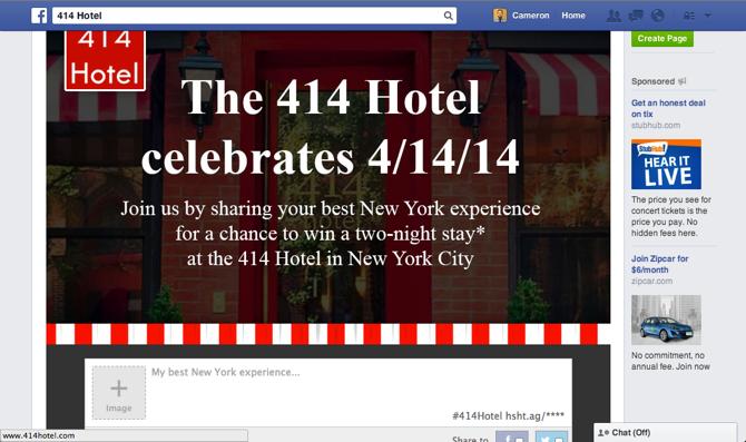 414 Hotel UGC Facebook Campaign